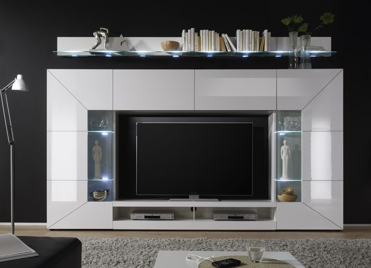 1000 ideas about wohnwand weiss on pinterest sideboard. Black Bedroom Furniture Sets. Home Design Ideas