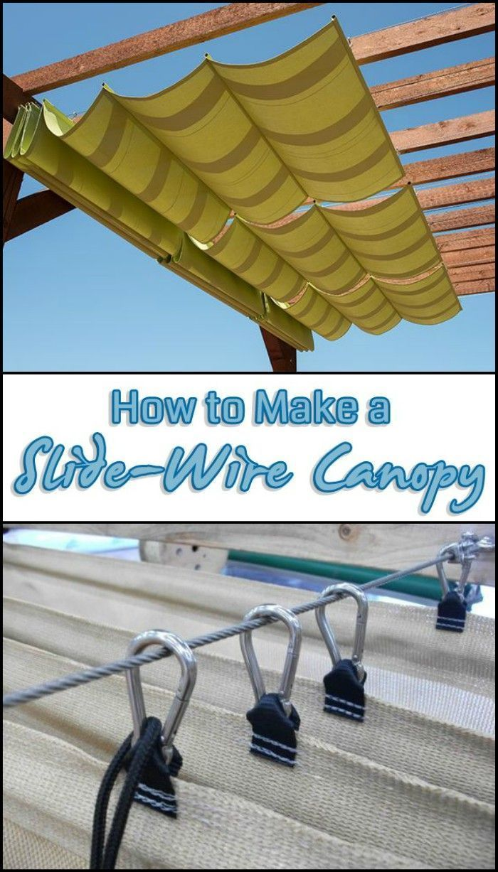 How to Make a Sliding, Wire-Hung Canopy