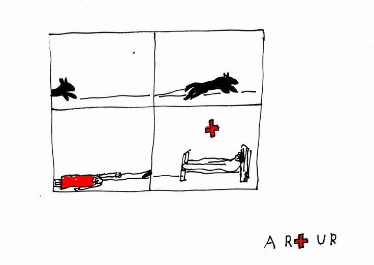 A kutyasétáltatás úgy kell elképzelni, mint Chagall szürrealista vízióinak és Tom & Jerry üldözési jeleneteinek sajátos elegyét, de egyetlen eset kivéletével anyám egészen fitten kerül ki ezekből a párharcokból.