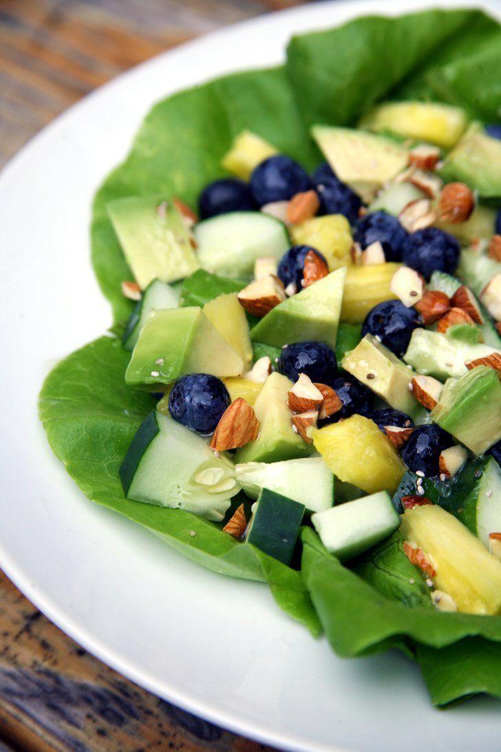 Pin for Later: Ein tropischer Salat für einen flachen Bauch