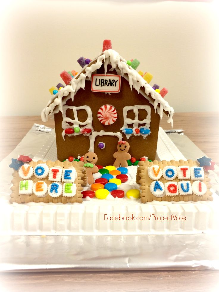 Why make a #gingerbreadhouse when you can make a sweet polling place instead? #vote