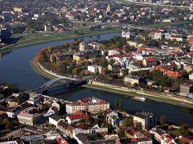 Cracow and Vistula River
