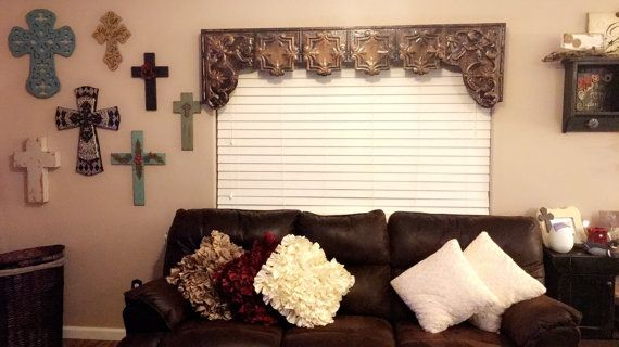 Custom tin window cornice with arched sides by TheVintageCornice