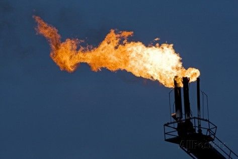 19 Natural Gas Flare Photographic Print