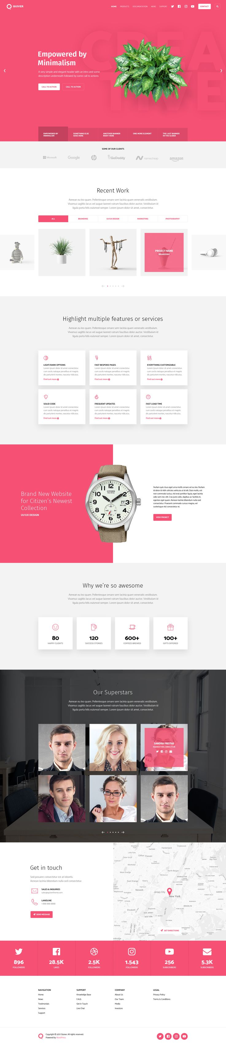 Quiver - Upcoming Wordpress Theme | #ui #userinterface #webdesign