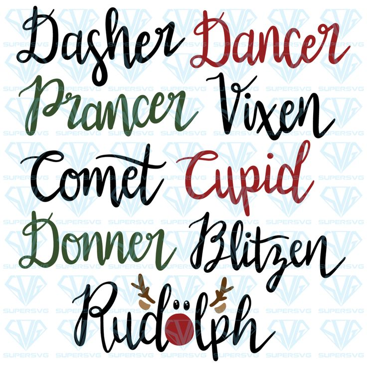 Download Reindeer names SVG Files For Silhouette, Files For Cricut ...