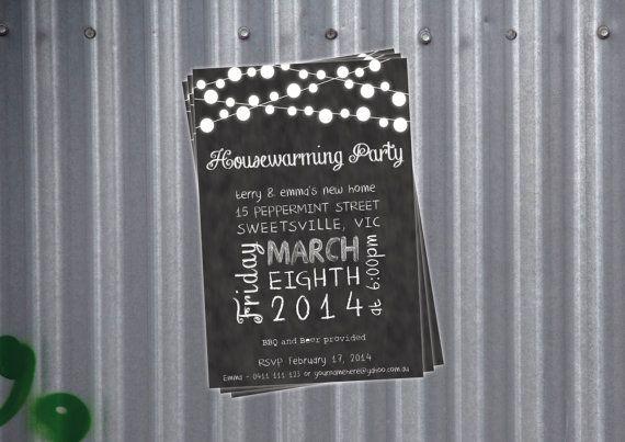 Housewarming Party Invitation - Blackboard or Chalkboard on Etsy
