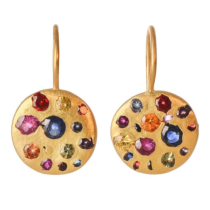 Last minute gifts- wow her with incredible, one-of-a-kind jewels, like these rainbow sapphire earrings from Polly Wales.  Select overnight shipping at checkout for holiday delivery.