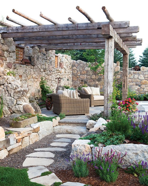 25 best ideas about rustic pergola on pinterest outdoor Construire une pergola