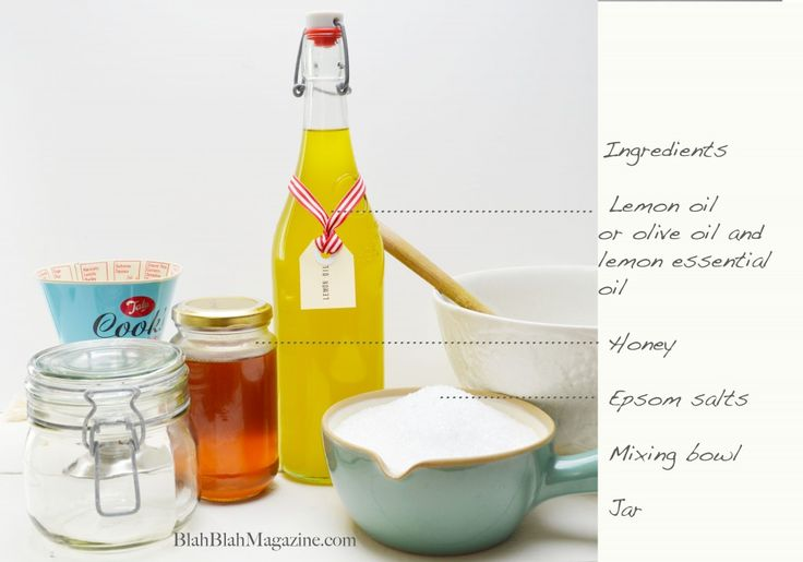 Homemade body scrub ingredients