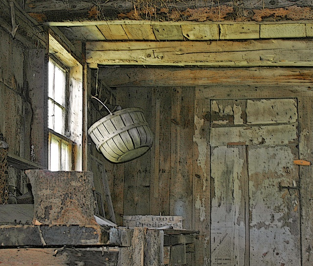 Basket in the house where Andrew Wyeth Painted by Blue Ridge Mt Woman, via Flickr  Andrew Wyeth, Genius.