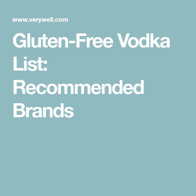 Gluten-Free Vodka List: Recommended Brands