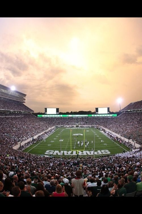 Spartan Stadium in East Lansing, MI. Home of the Michigan State Spartans.