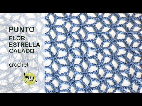 getlinkyoutube.com-Tutorial Punto Flor Estrellada Calado Crochet o Ganchillo en Español                                                                                                                                                     Más