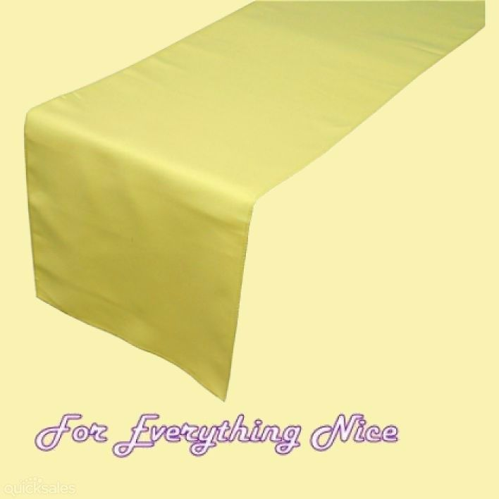 Yellow Polyester Wedding Table Runners Decorations x 5 For Hire by J7339 - $30.00