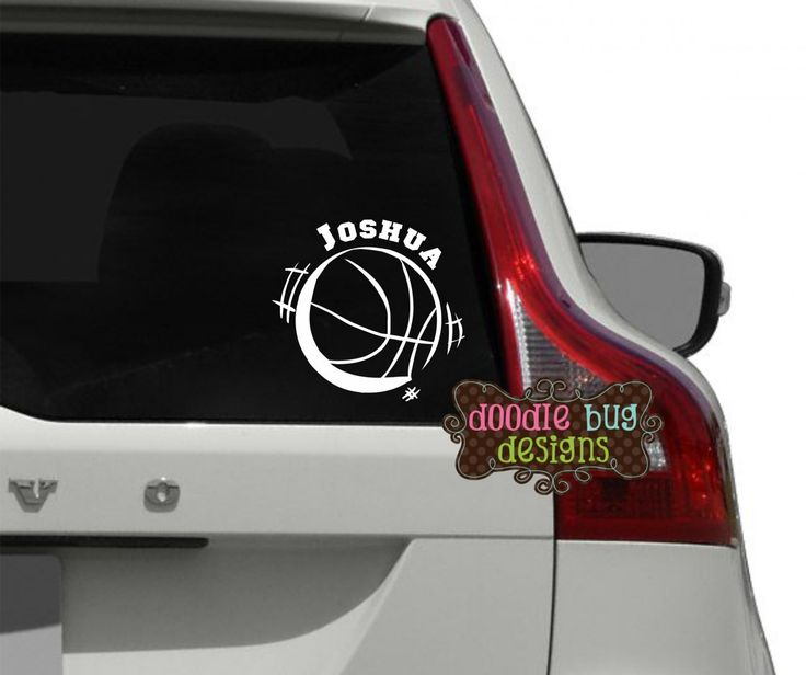 Personalized basketball car decal