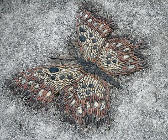 pebble mosaic Butterfly