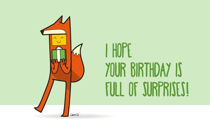 Sophia the Fox - Birthday Card Series - The Roundlings #cute #drawing #birthday