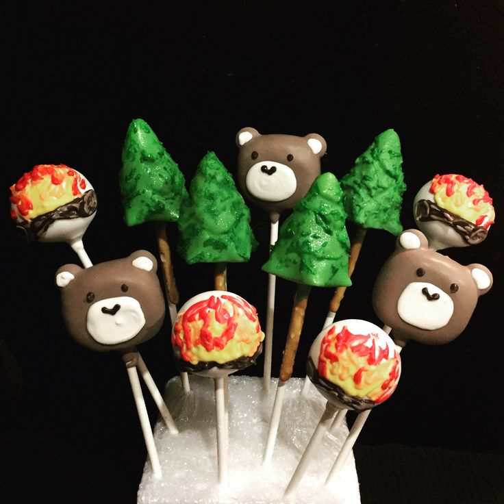 Camping Theme Cake Pops