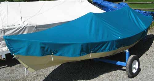 Completed boat cover