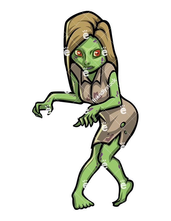 scary young female zombie vector cartoon clipart pinterest young clip art free young cleopatra