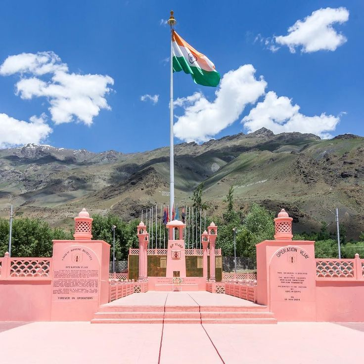 Some places just have that vibe which brings the patriotism out of you! Kargil war memorial was one of such places. The moment we saw the Indian Flag flying high in the winds we realised the importance and significance of this place.  #patriotism #nationalism #india #kargil #kargilwarmemorial #awesome #incredibleindia #instagood #instagram #photo #photogram #photography #photographer #travel #travelling #traveller #flag #tiranga #salute #hpow #l4l