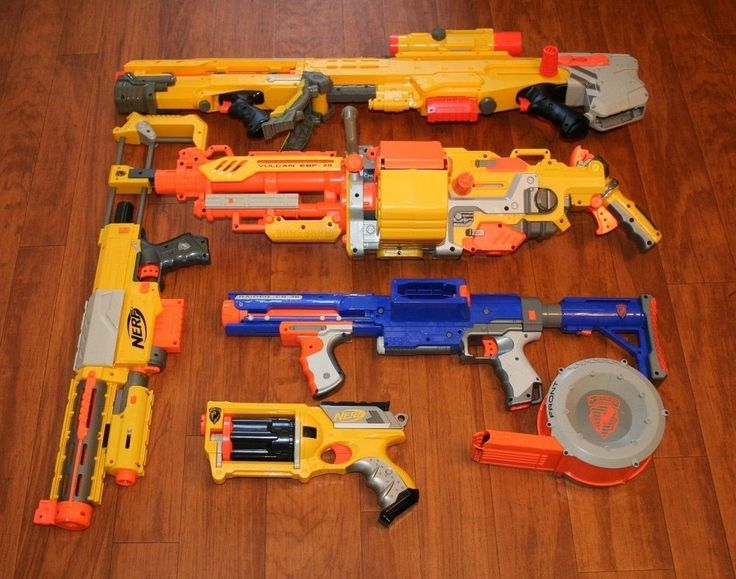 Nerf Guns Lot 5 Vulcan EBF-25 Longshot, Recon, Raider CS-35 Rifles Bonus Pistol! #NERF #TheSmartShoppe