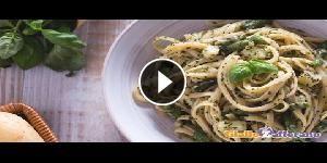Bavette al pesto, patate e fagiolini - La video ricetta
