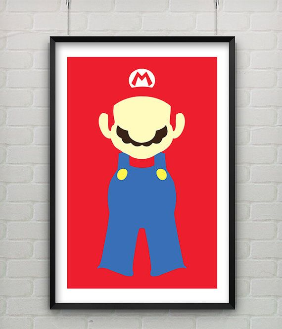 Foyer Minimalist Game : Super mario print set of three minimalist