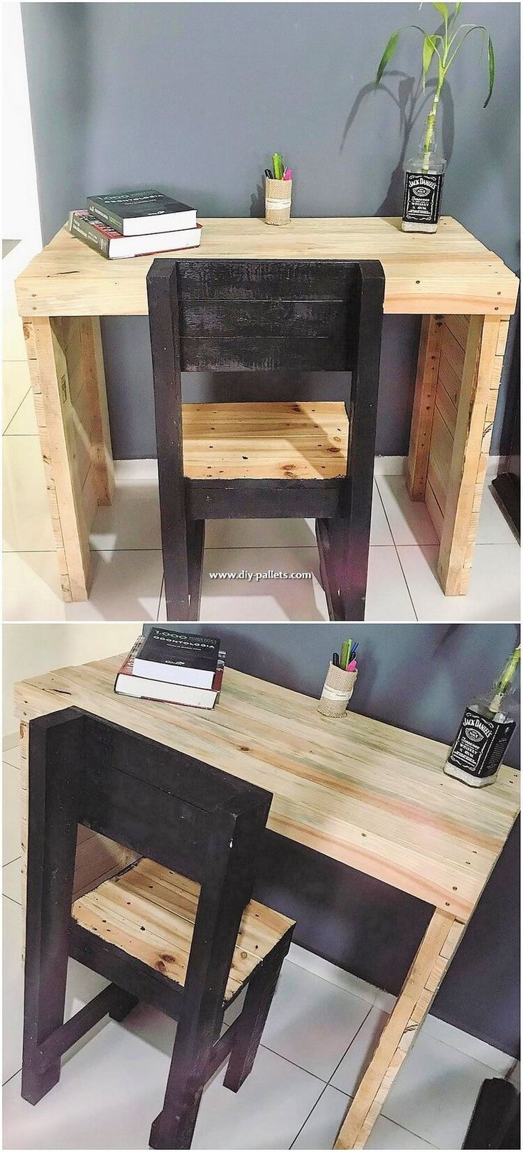 study table with chair on compact study room designs to help your kids study fun home design diy pallet furniture wooden pallet projects study table and chair diy pallet furniture
