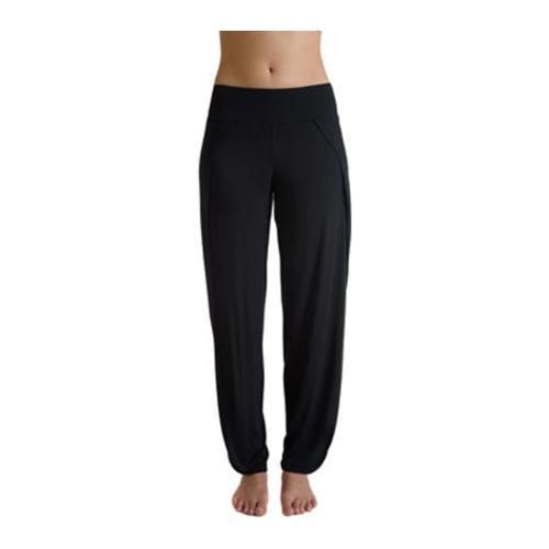Women's Be Up Carefree Black Lounge Pants with Side Opening