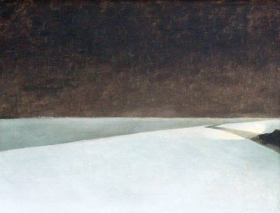 Route 15    Jean Paul Lemieux  1965 oil on canvas  32.5x43 in