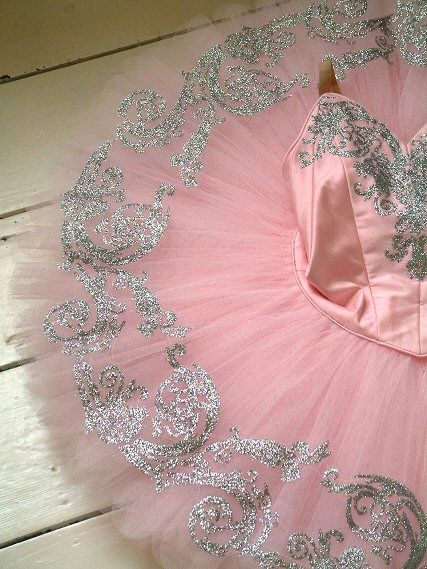 Rossetti pink and silver tutu! Absolutely intricately beautiful. Just wanted to dance around in a giant tutu on pointe