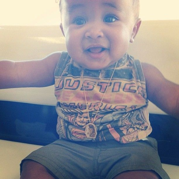 Another one of the gorgeous King Cairo, Tyga and Blac Chynas son.