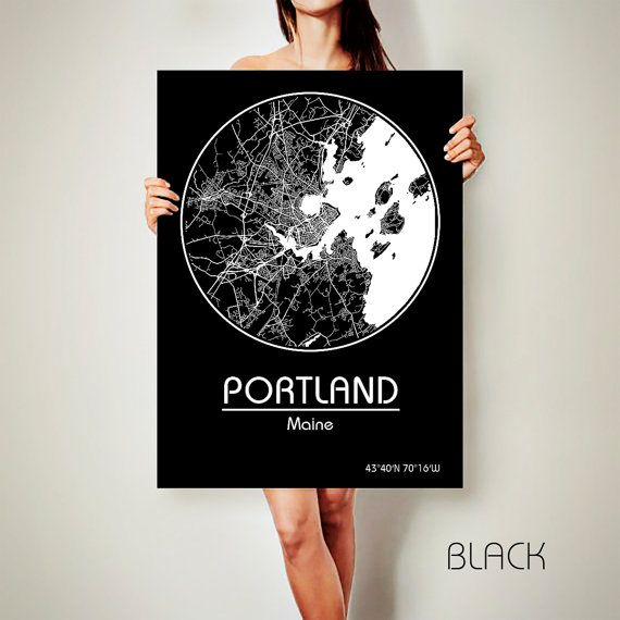 PORTLAND Maine CANVAS Map Portland Maine Poster City Map Portland Maine Art Print Portland Maine poster Portland Maine map art Poster Portland Maine map  Get a discount on this map! To see all offers, click here: https://www.etsy.com/shop/ArchTravel?ref=hdr_shop_menu&section_id=19169258  ♛COLORS, QUALITY AND DETAILS:  ★Impressive High Detailed Map  ★Stylish BAUHAUS Design!  ★The DEEP RICH COLORS!  ★Best quality. Fabulous look!  ♛MATERIAL:  ★Printing on 100% N...