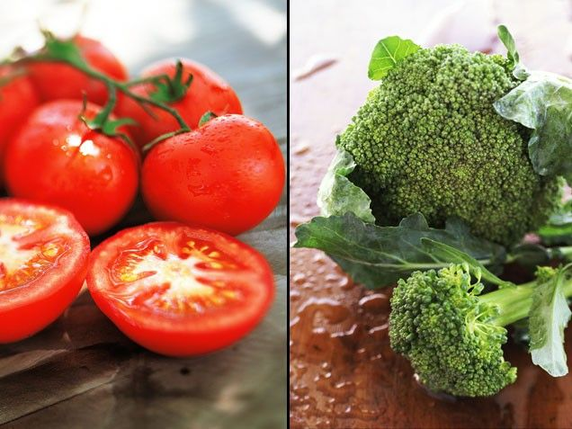 Broccoli + Tomatoes = Cancer Control | Stay-Well Strategy: The amount of produce used in the study translates to about one and a half cups of broccoli and two and a half cups of fresh tomato (or one cup of tomato sauce). To tap into their potent powers, order a pizza generously topped with broccoli or sprinkle some florets over your next plate of spaghetti. | From: ivillage.com