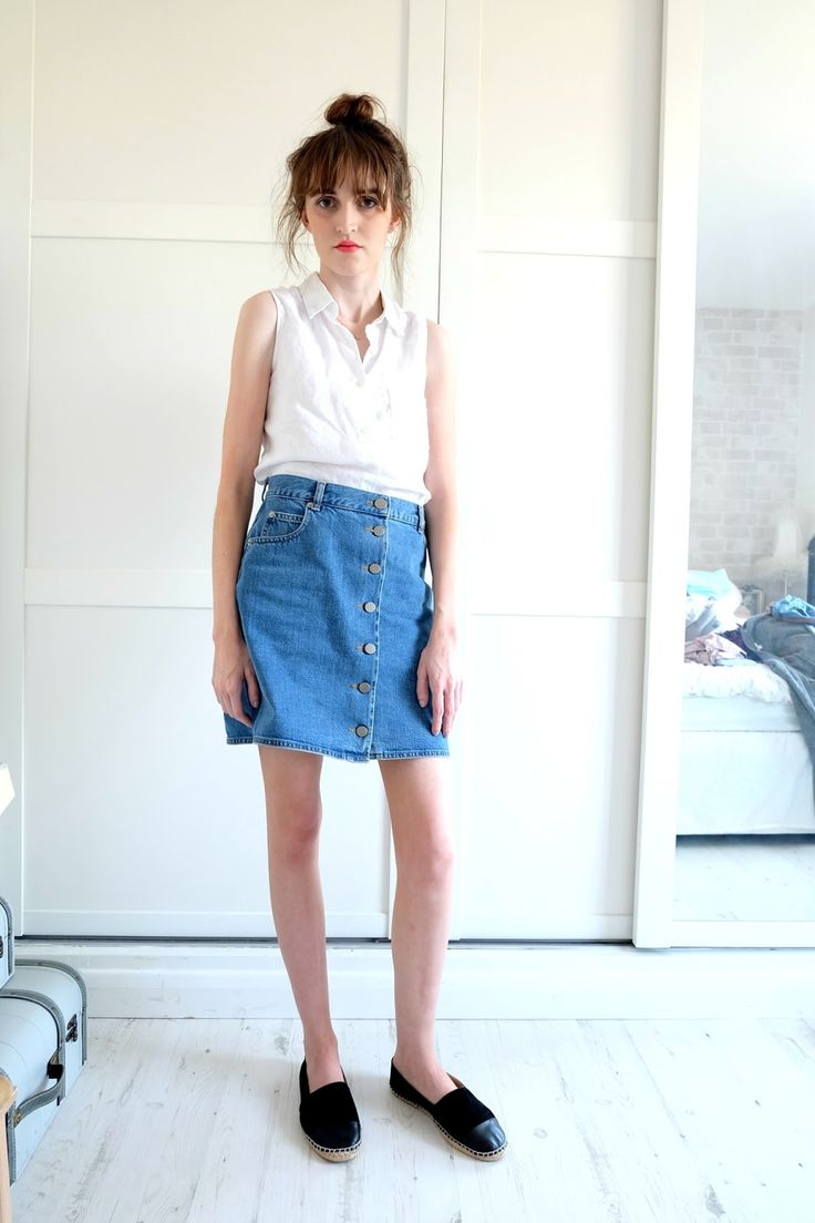 superb button down skirt outfit 9