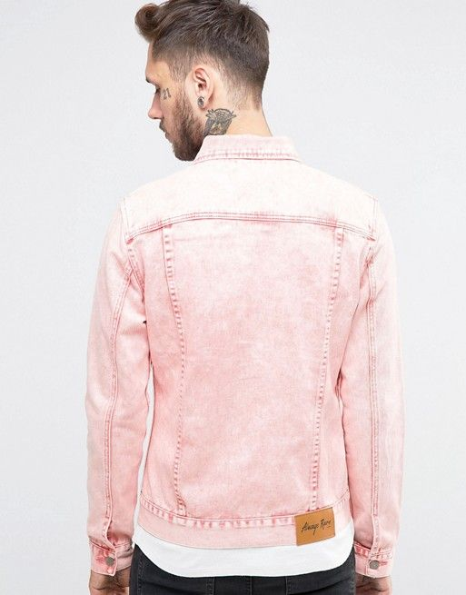 Always Rare | Chaqueta vaquera rosa con lavado muy marcado de Always Rare