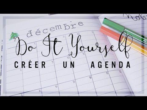DIY ✄ créer ton agenda / DIY note planner - YouTube