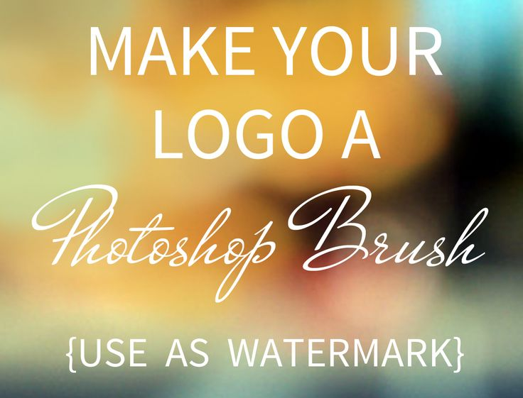Easy video tutorial to make a watermark in photoshop. Use your very own logo to create a brush!