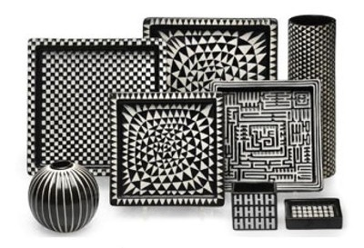 "Ceramics from the ""Domino"" collection by Swedish designer Stig Lindberg (1916-1982). via KennetWestelius"