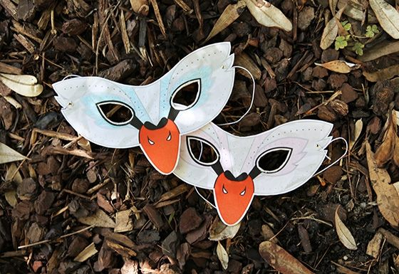 DIY Printable Swan Mask Template | Kid's Craft | Little Gatherer