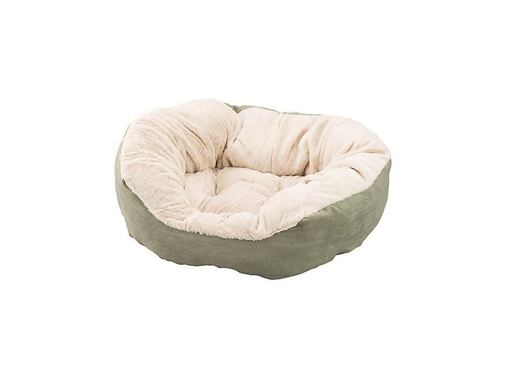 Ethical Pets Sleep Zone Step In Pet Bed Oval Shaped Faux Suede Soft Sage 21  Inch