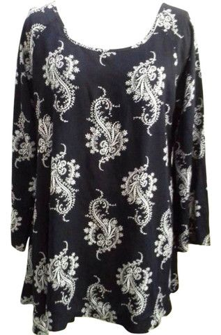 Deep Navy Boho Paisley Tunic – 365 Days Of Resort Wear