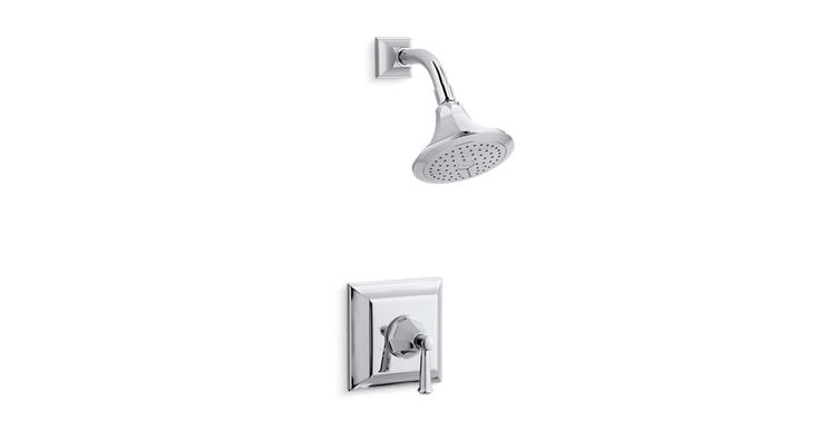K-TS462-4S | Memoirs® Stately Rite-Temp® shower valve trim with lever handle and 2.5 gpm showerhead  | KOHLER