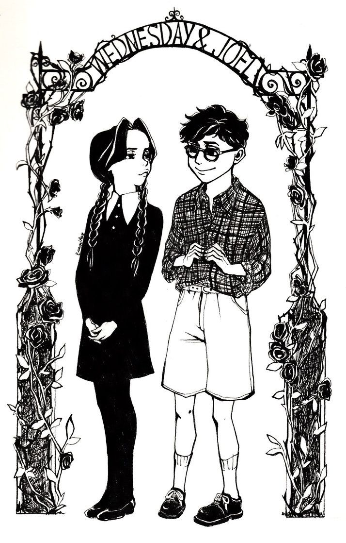 #2 Wednesday Addams and Joel Glicker by UrRose