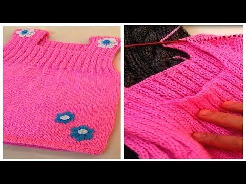 Örgü Kız Bebek Elbisesi Nasıl Yapılır? Videolu - Mimuu.com