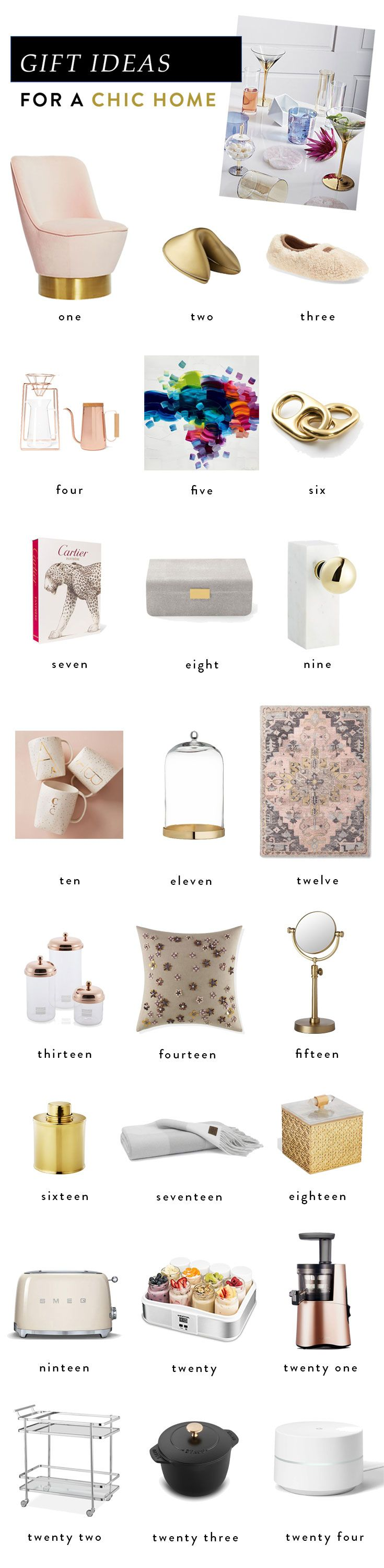 Gift Ideas for a Chic Home
