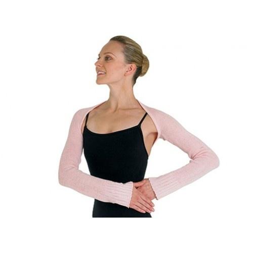 Bloch Lydia Ladies bolero  Long sleeve shrug  Fabric: 100% acrylic cashmere like yarn  Colours: Ballet pink , Light Blue, Burgundy, Black  Price: 19.90€