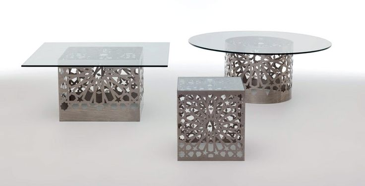 Coffee table glass top metal legs google candle holder pinterest - Table basse aluminium ...